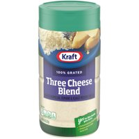 Kraft Grated Three Cheese Blend with Parmesan, Romano & Asiago Cheeses, 8 oz Jar