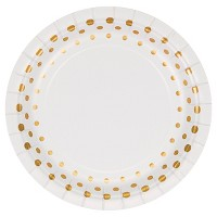 "Sparkle and Shine Gold Foil 7"" Dessert Plates - 8ct"