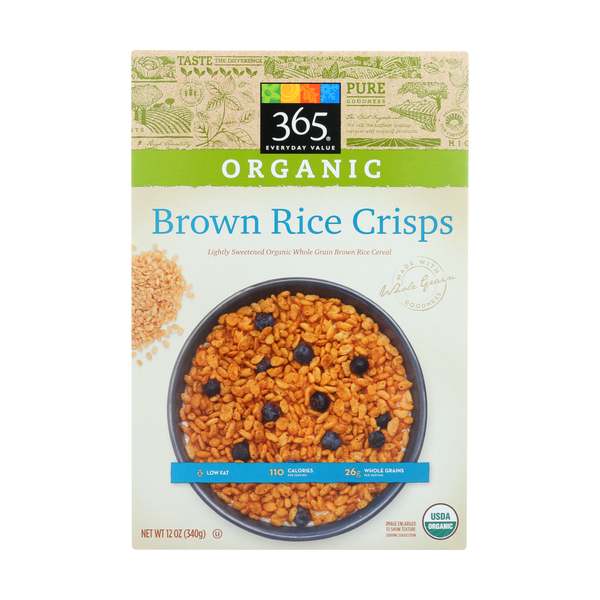 365 everyday value® Organic Brown Rice Crisps Cereal, 12 oz