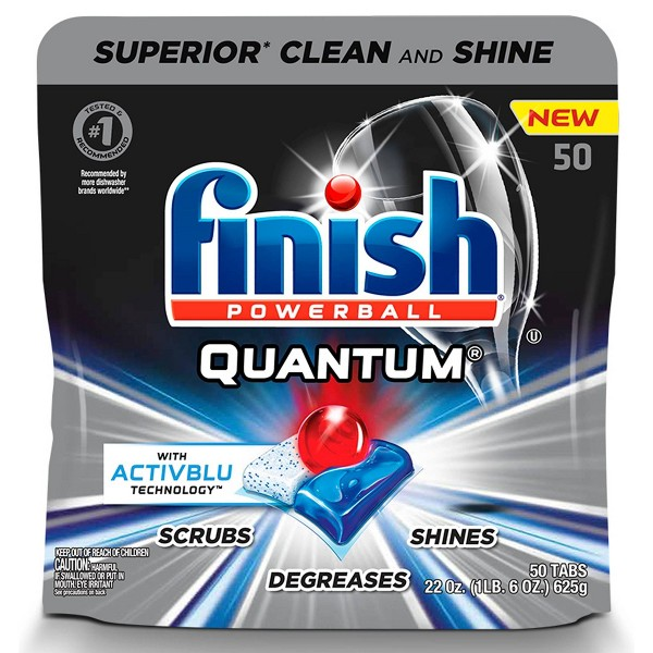 Finish Quantum Ultimate Clean & Shine Dishwasher Detergent Tablets - 50ct