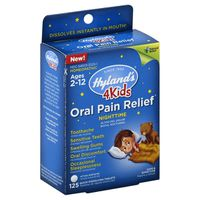 Hyland's Oral Pain Relief, 65 mg, Nighttime, Quick Dissolving Tablets