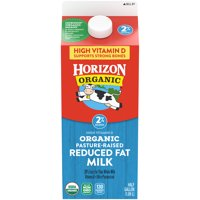 Horizon Organic 2% Reduced Fat High Vitamin D Milk, Half Gallon