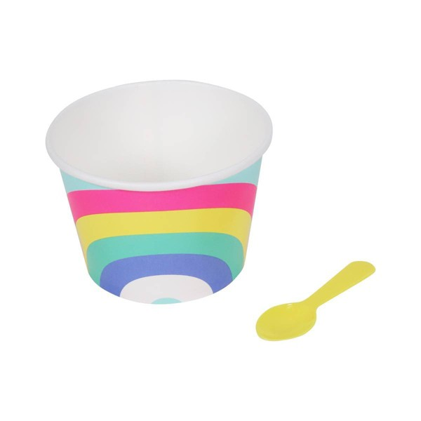 10ct Rainbow Treat Cup with Spoon - Sun Squad™