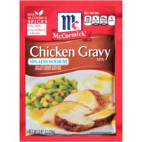 McCormick 30% Less Sodium Chicken Gravy Mix, 0.87 oz