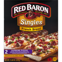 Red Baron® Singles French Bread Supreme Pizzas, 11.60 oz, 2 Count