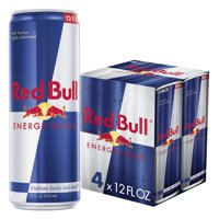 (4 Cans) Red Bull Energy Drink, 12 Fl Oz