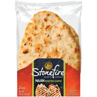 Stonefire Authentic Flatbreads Naan Roasted Garlic