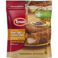Tyson® Fully Cooked Honey BBQ Chicken Strips, 25 oz. (Frozen)