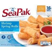 SeaPak Shrimp Spring Rolls with Dipping Sauce, 16 Count, 20 oz