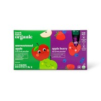Organic Unsweetened Apple and Apple Berry Variety Pack - 12ct - Good & Gather™
