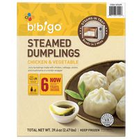 Bibigo Steamed Chicken & Veggie Dumpling, 6 x 6 ct