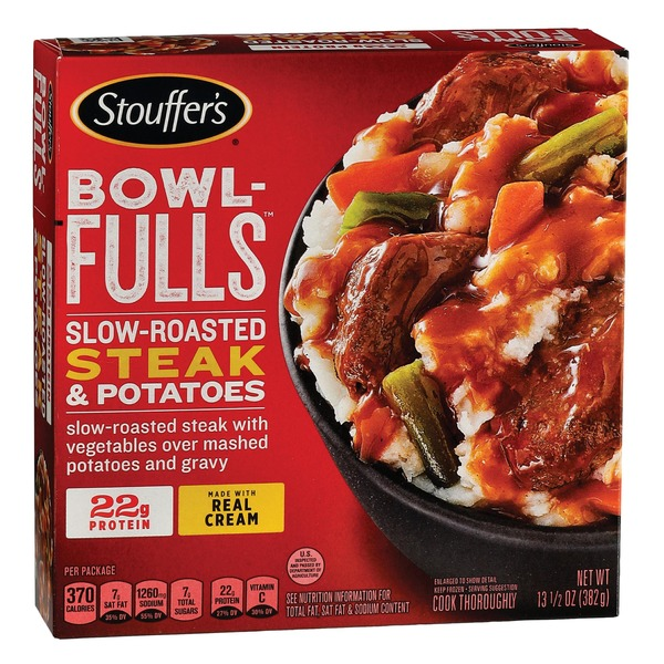 Stouffer's BOWL-FULLS Slow-Roasted Steak & Potatoes Frozen Meal