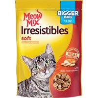 Meow Mix Irresistibles Cat Treats, Soft With White Meat Chicken