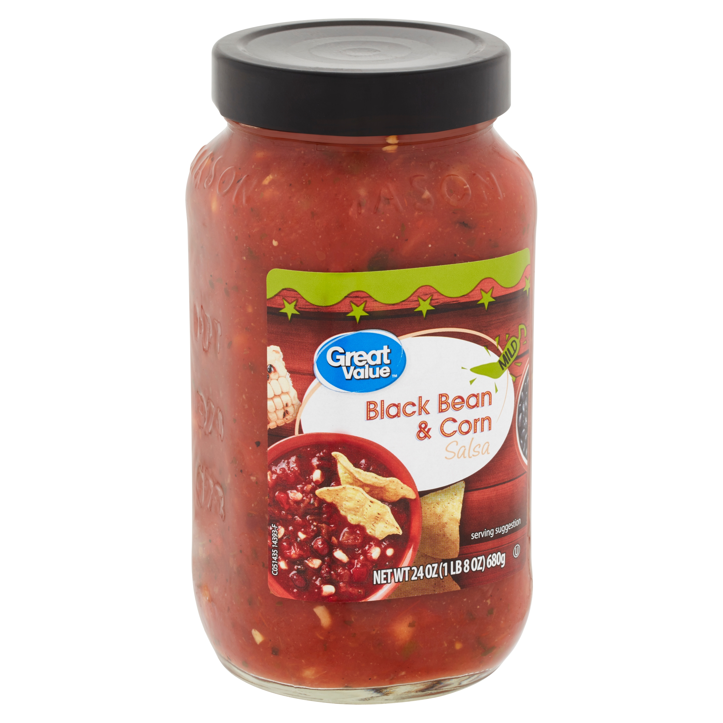 Great Value Mild Black Bean & Corn Salsa, 24 oz