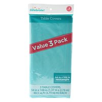 Celebrate Table Cover Teal 3 Pack