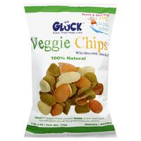 Gluck 100% Natural, Veggie Chips, Wholesome Snacks, Bag