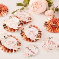 "6 Pin ""Bride To Be"" Party Badges With Stickers"