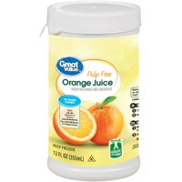 Great Value Frozen Pulp Free Orange Juice, 12 fl oz