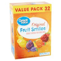 Great Value Original Fruit Smiles, 28.8 Oz.