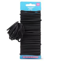 Equate Beauty No-Metal Elastics, 100 Count
