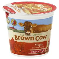 Brown Cow Maple Cream Top Whole Milk Yogurt