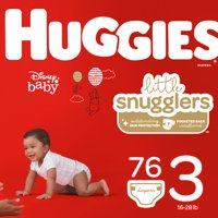 HUGGIES Little Snugglers Diapers, Size 3, 76 Count