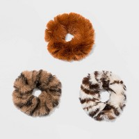 Mix Faux Fur Twister, Fox Print, Solid 3pc - Wild fable™