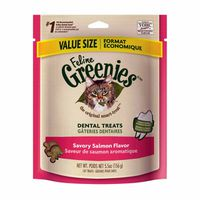 Feline Greenies Dental Savory Salmon Flavor Cat Treats