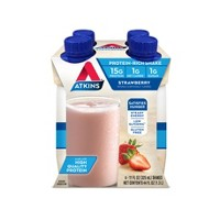 Atkins Protein Shake - Strawberry - 11oz/4pk Bottles