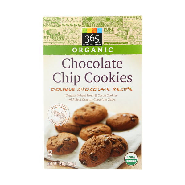 365 everyday value® Organic Double Chocolate Chip Cookies, 12 oz