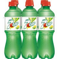 7UP Diet Caffeine-Free Lemon Lime Flavored Soda, 0.5 L, 6 Count