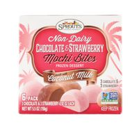 Sprouts Non Dairy Chocolate Strawberry Mochi Bites