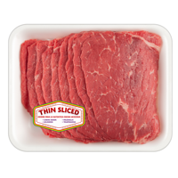 Beef Bottom Round Steak Thin, 0.34 - 2.0 lb