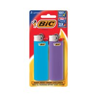 BIC Classic Pocket Lighter, Assorted Colors - Pack of 2 Lighters (colors may vary)