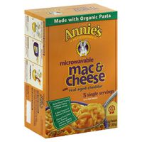 Annie's Homegrown Macaroni & Cheese, Real Aged Cheddar, Microwavable, Single Servings