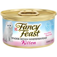 Fancy Feast Wet Kitten Food, Tender Ocean Whitefish Feast, 3 oz. Can