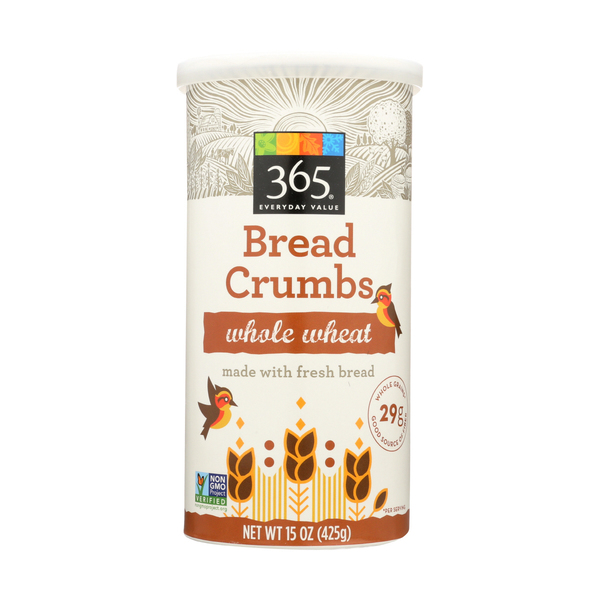 365 everyday value® Whole Wheat Bread Crumbs, 15 oz
