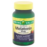 Spring Valley Fast-Dissolve Melatonin Tablets, 10 mg, 120 count