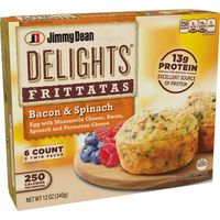 Jimmy Dean Bacon and Spinach Frittatas, Frozen