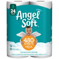 Angel Soft Bath Tissue 6 Mega Chm 484CT White