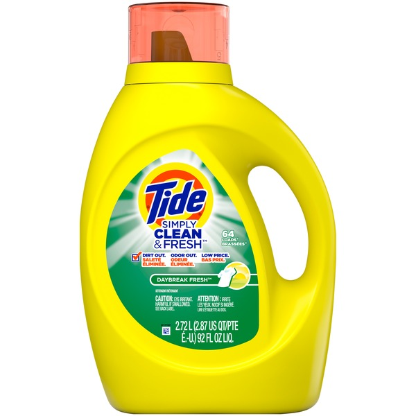 Tide Simply Clean & Fresh Liquid Laundry Detergent, Daybreak Fresh