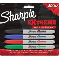 Sharpie Extreme Permanent Markers Fade Resistant Fine Point Assorted 4 Count