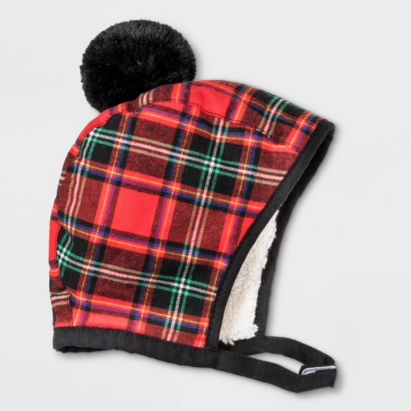 Baby Girls' Plaid Bonnet - Cat & Jack™