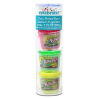 Way To Celebrate Flarp Noise Putty 4 Pk Assorted