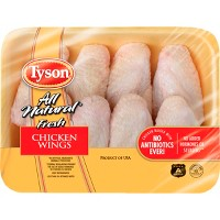 Tyson All Natural Antibiotic Free Chicken Wings - 1.24-2.56lbs - priced per lb