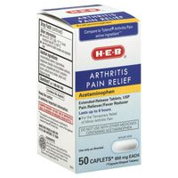 H-E-B 650 Mg Arthritis Pain Relief Acetaminophen Caplets