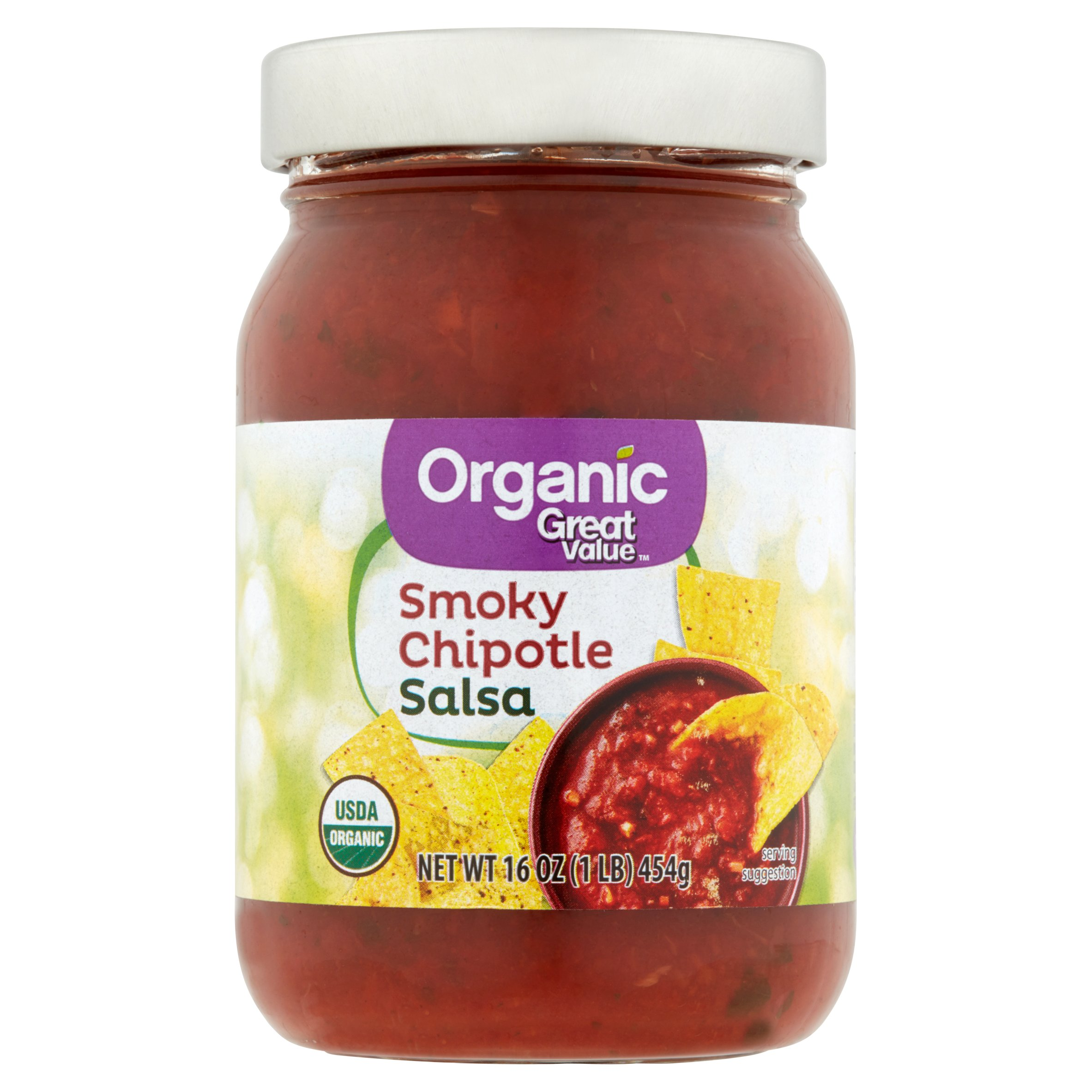 Great Value Organic Salsa Smoky Chipotle, 16 oz