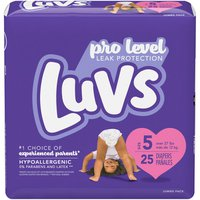 Luvs Ultra Leakguards Diapers, Size 5 (Over 27 lb)