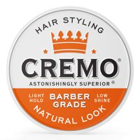 Cremo Barber Grade Hair Styling Cream, Natural Look, 4oz