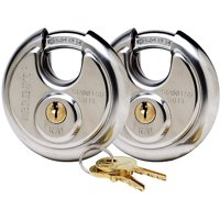 Brink's 70mm ProMax Security Stainless Steel Discus Lock, 2 PK